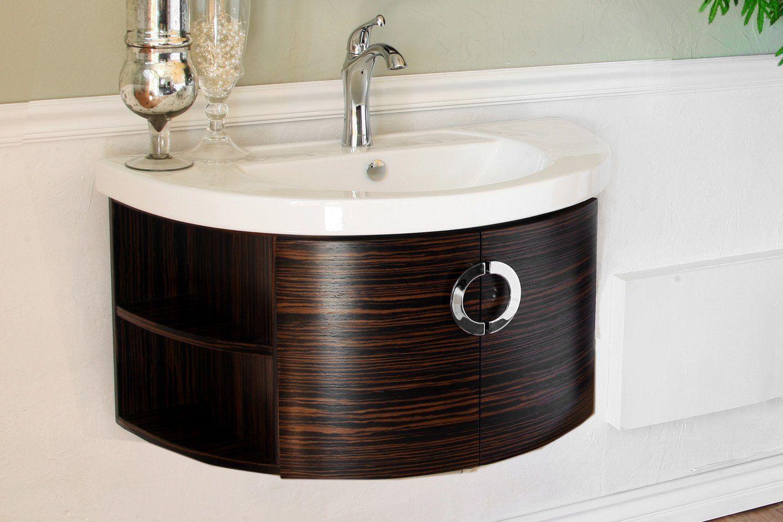 34 In Single Vanity Wood Ebony Zebra In 2021 Wood Bathroom Vanity Vanity Shelves Vanity [ 1000 x 1500 Pixel ]