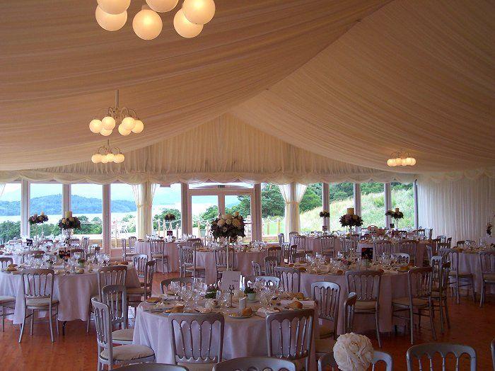 Castle Wedding Venues: Wedding Marquee - Boturich Castle