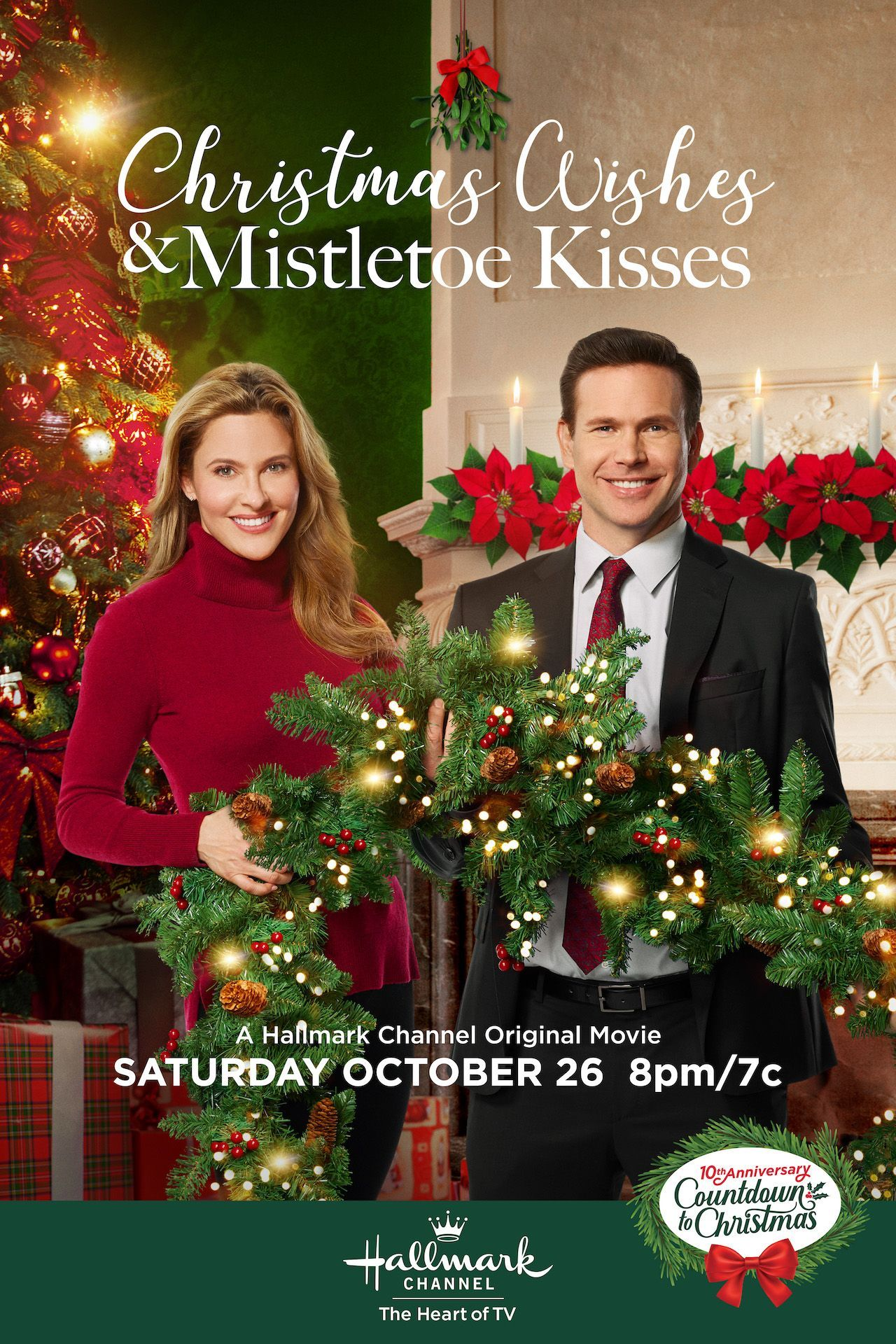 Join Us For Christmas Wishes Mistletoe Kisses Starring Jill Wagner And M Hallmark Christmas Movies Christmas Movies On Tv Hallmark Channel Christmas Movies