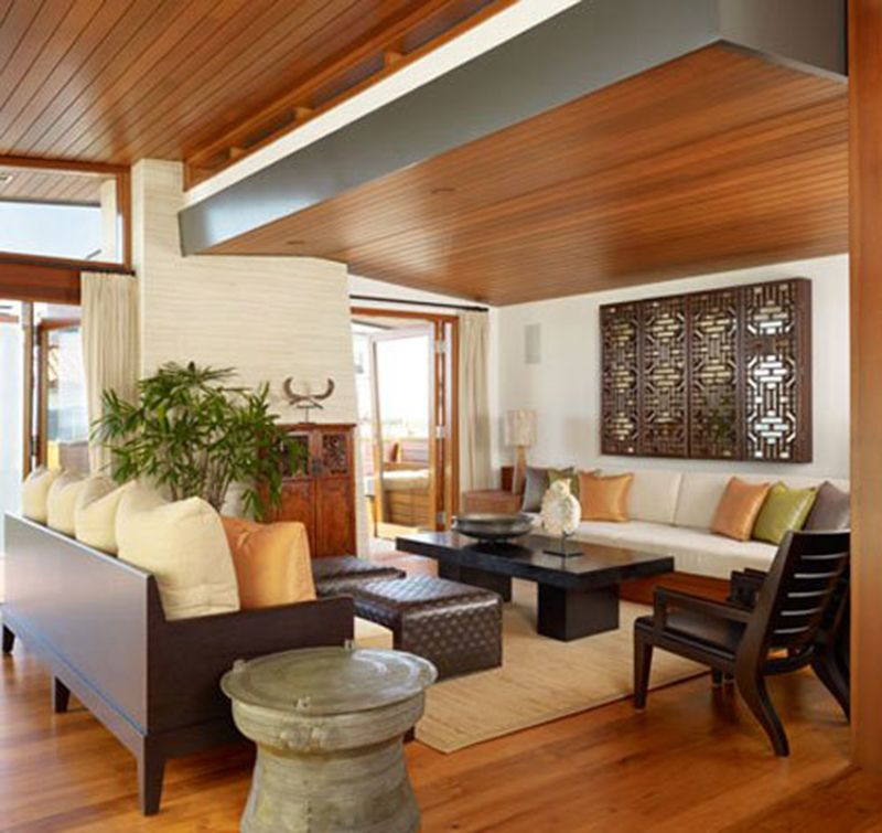 Comfortable Living Room Design With Zen Style Ideas Modern Home Interior Design Tropical House Design Modern Houses Interior