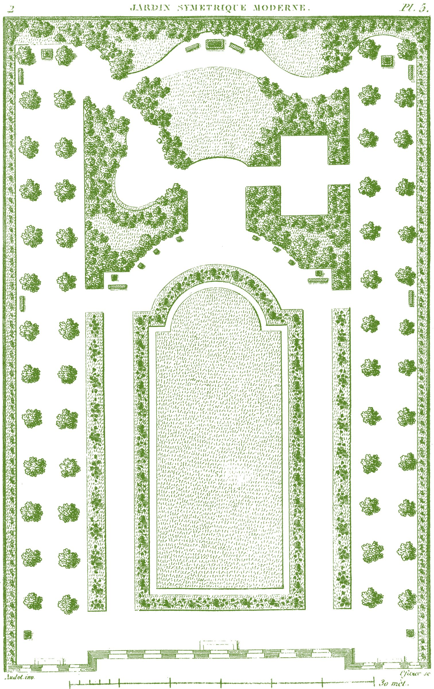 Antique Garden Plans Gardens Garden design plans and Vintage