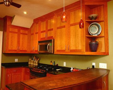 modern kitchen with shaker cabinets | cherry shaker style kitchen ...