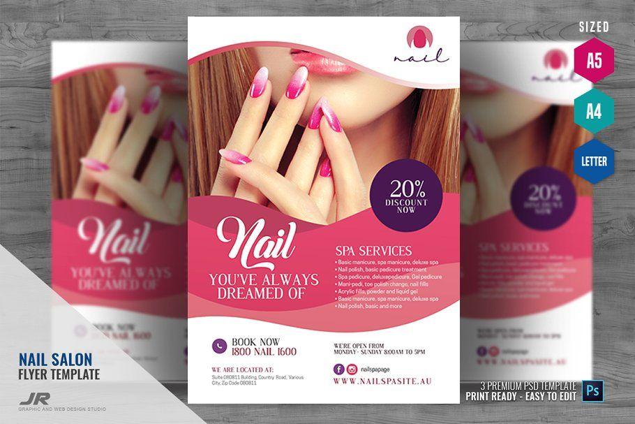 nail art salon flyer nail art salon