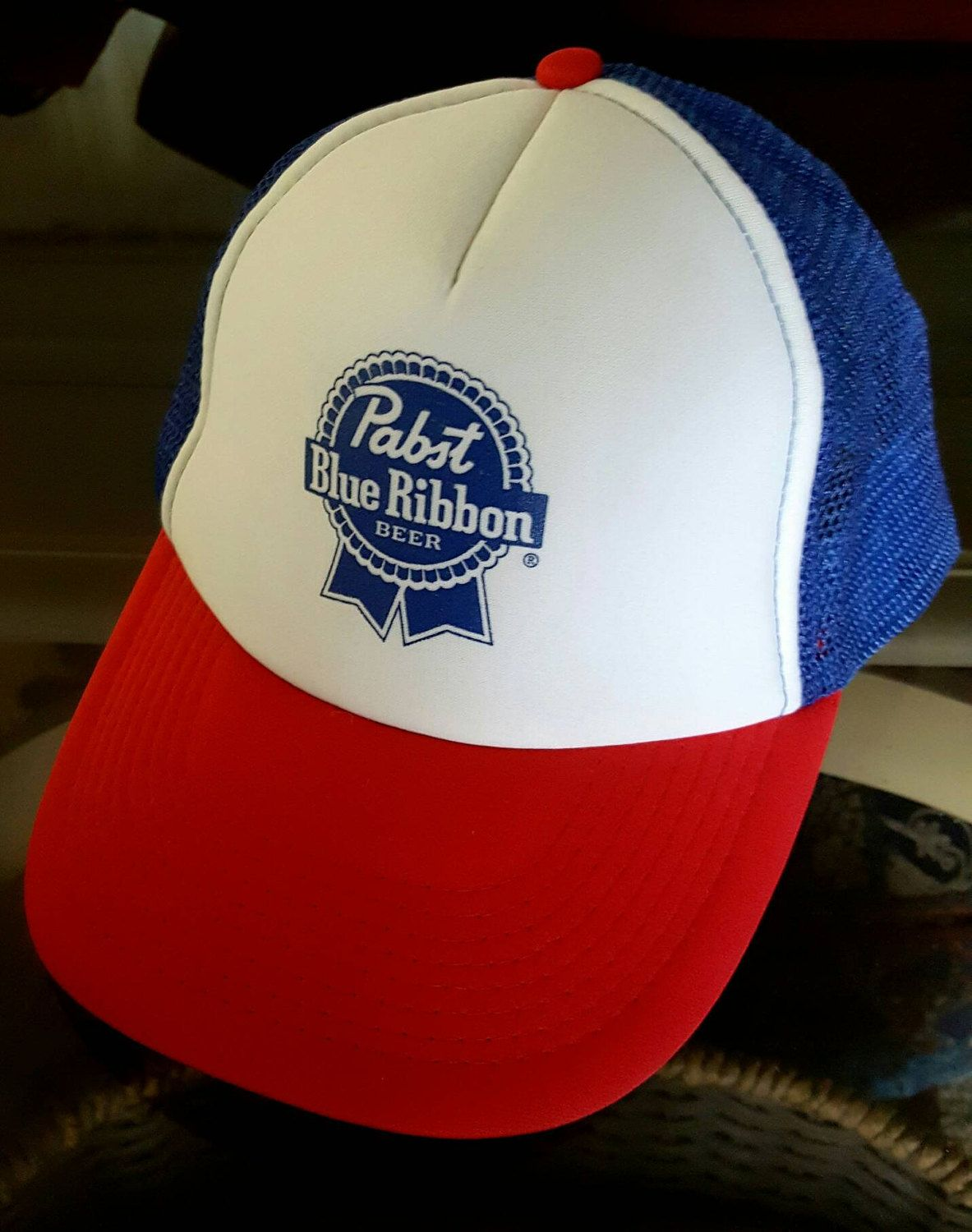 83c71ece02d Pabst Hat by ResouledGypsy on Etsy Vintage Trucker Hats