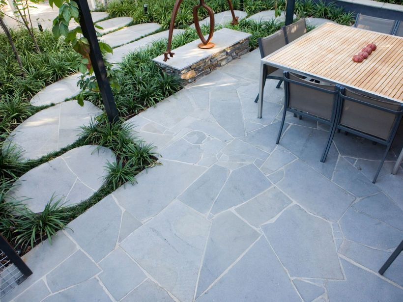 Eco outdoor bluestone crazing paving courtyard l for Bluestone flooring