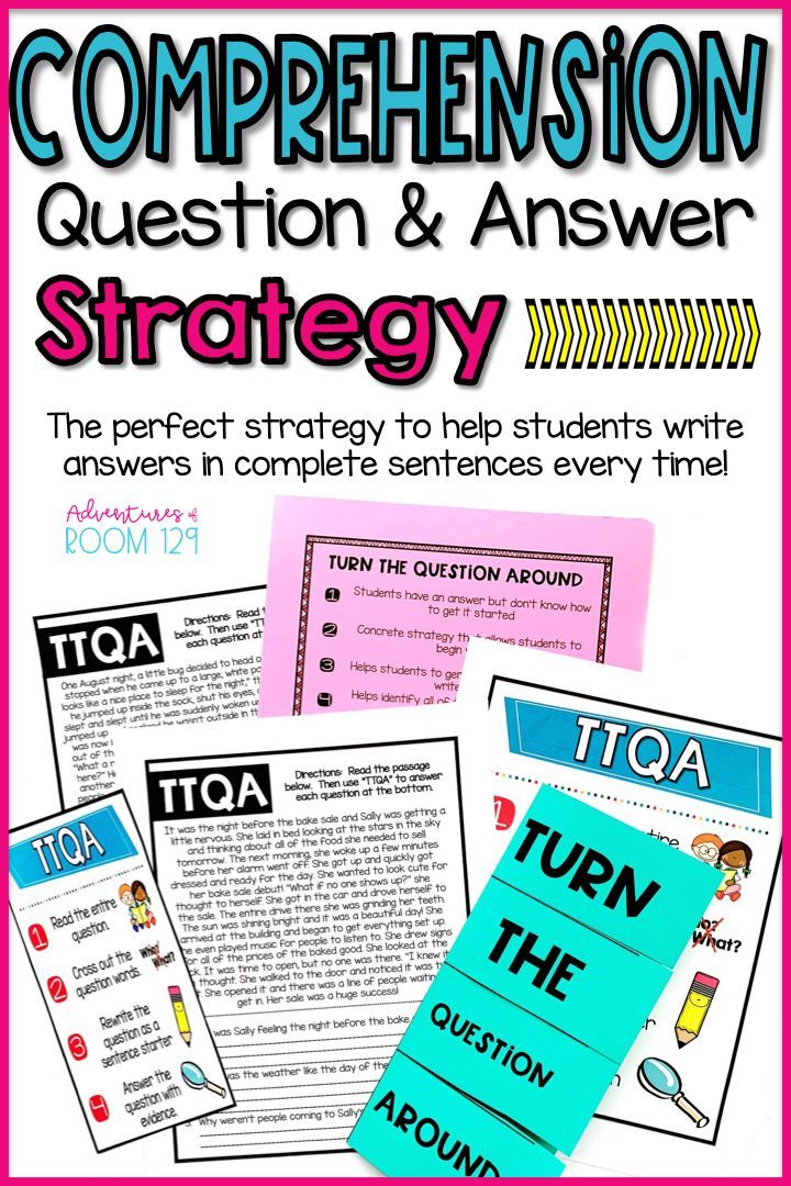 Comprehension Question and Answer Strategy for Elementary ...
