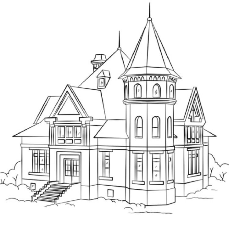Pin By Ranelcio Varelsha On Malbuch House Colouring Pages Coloring Pages House Outline