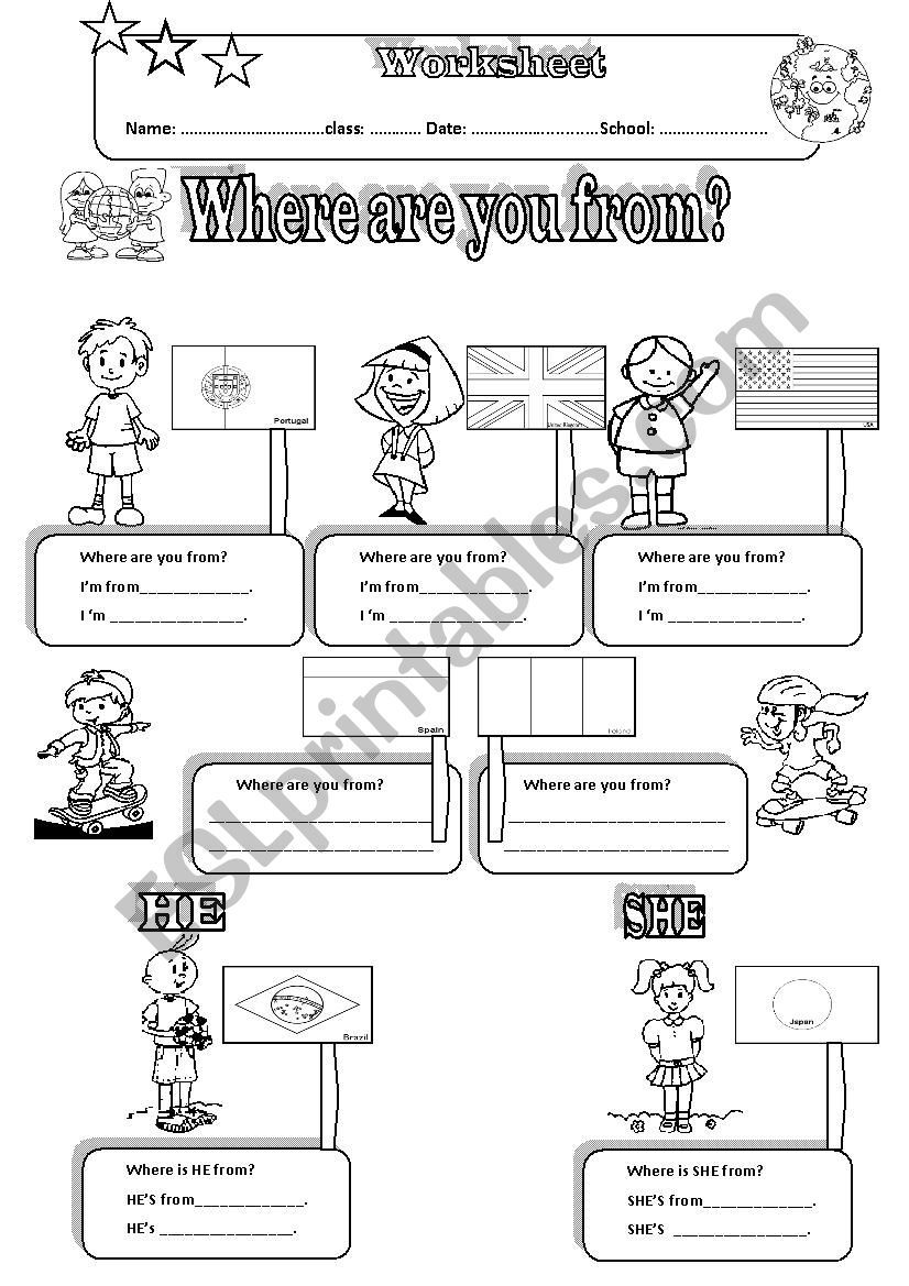 This is a 2 page Worksheet directed to the unit countries