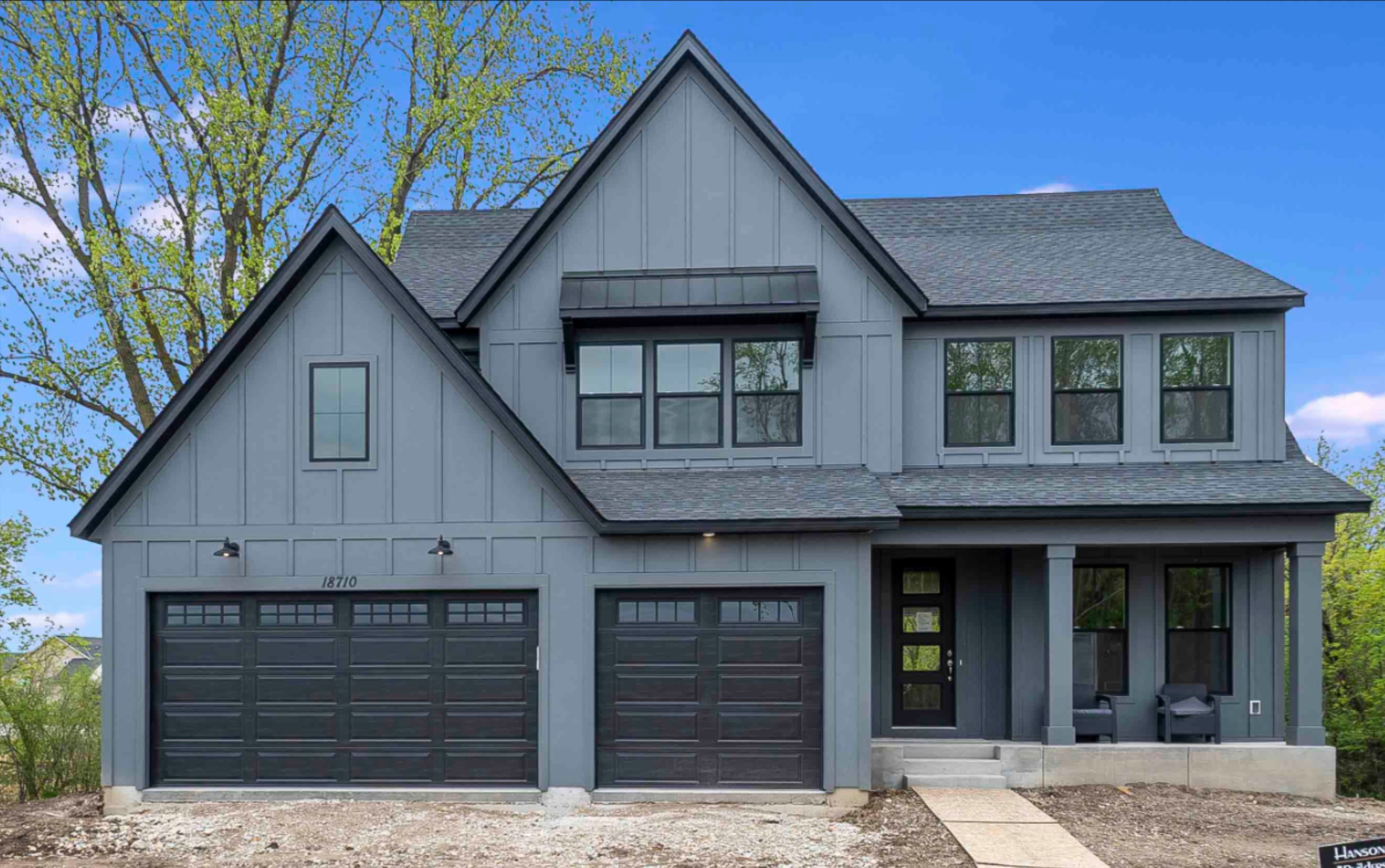 Hanson Builders Hillcrest Model In 2020 Brick Exterior House Gray House Exterior Grey Siding House