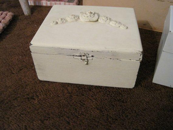 shabby white boxes by shabbyloft on Etsy, $12.00