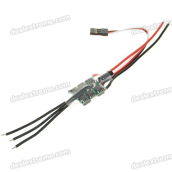 Speed Controller 10A BEC for Brushless Motors on R/C Helicopters. 10A BEC - Maximum current: 13A - 2~3S Li-Po b
