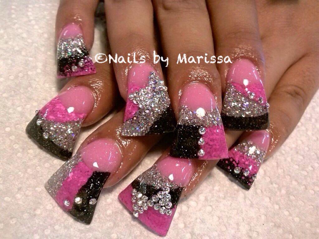Acrylic Nails Duck Feet Nails Flare Nails Feet Nails