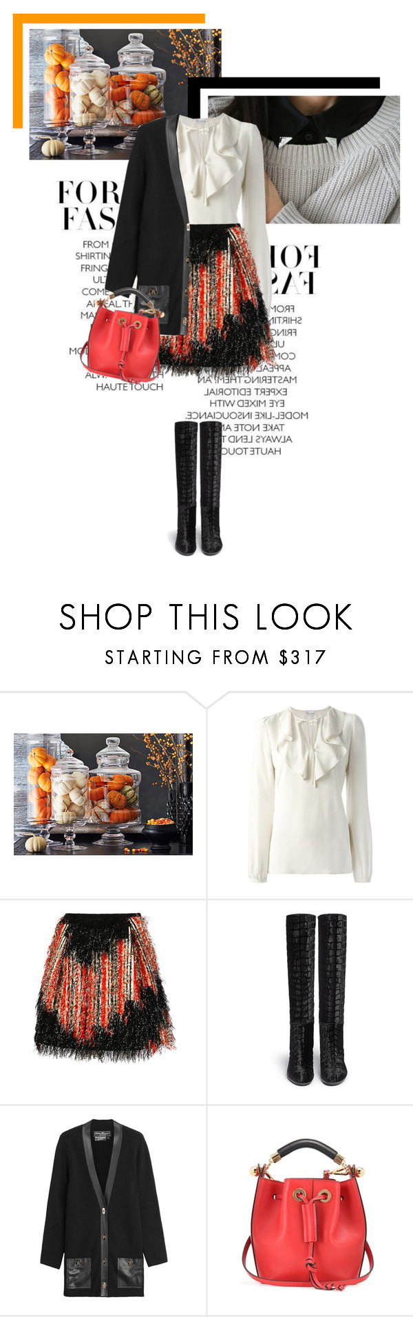 """Autumn has come"" by veronicamastalli ❤ liked on Polyvore featuring RED Valentino, Fendi, Stuart Weitzman, Salvatore Ferragamo and Chloé"