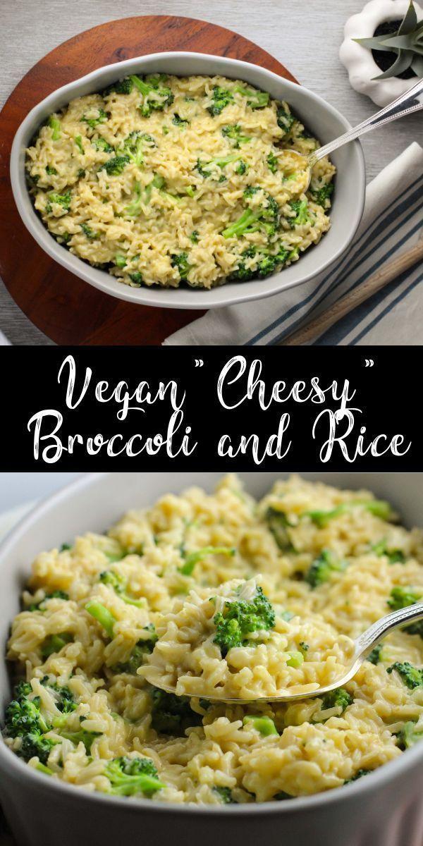 Vegan cheese broccoli and rice - cheesy recipes dinner Vegan Cheesy -