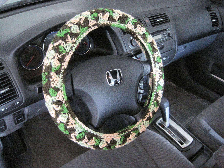 Crochet steering wheel cover wheel cozy mixed colors cswc