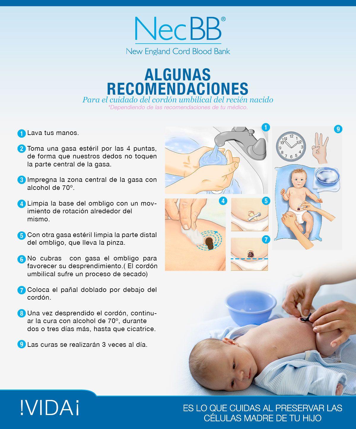 Cuidado del cordón umbilical del recién nacido | bebé | Pinterest ...