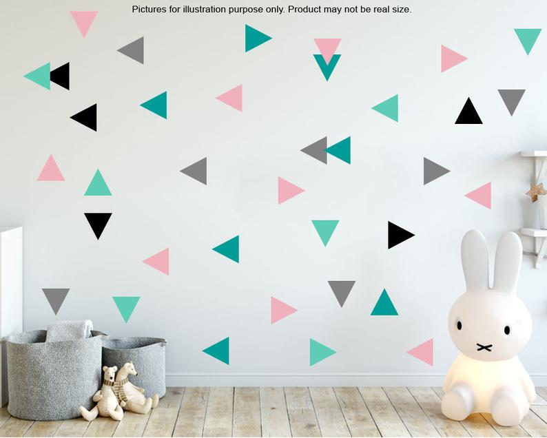 100 Triangle Wall Stickers Gold Triangle Wall Stickers Decor