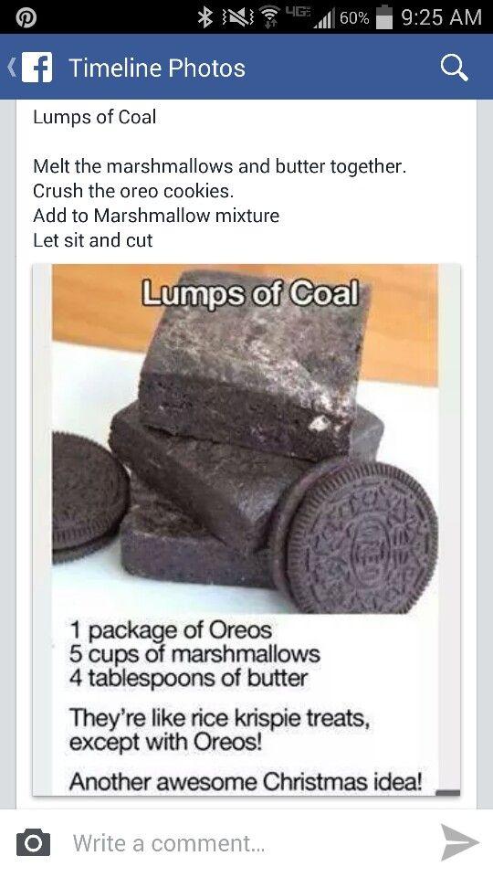 Lumps of Coal Oreos