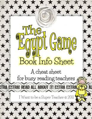 The Egypt Book Info Sheet