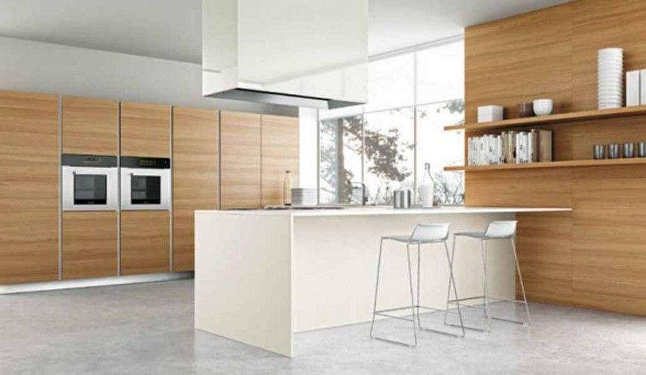 Modern White Kitchen | Stylish White Barstools Modern Range Hood Italian  Kitchen Design Image
