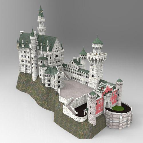 Neuschwanstein Castle Neuschwanstein Castle Minecraft Castle Castle