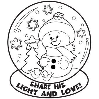 Snow Globe Coloring Page - Free Christmas Recipes ...