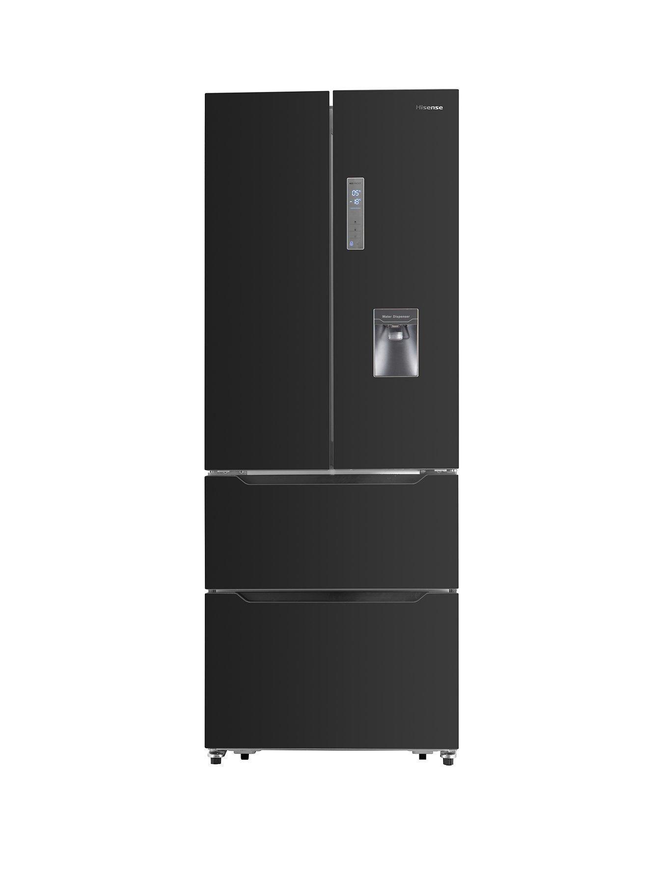 Rf528n4wb1 70cm Wide French Door Style Fridge Freezer With Water Dispenser Black Water Dispenser Locker Storage French Doors