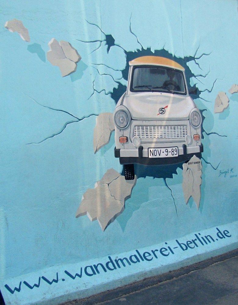 Wandmalerei berliner mauer von hannelore biereder - Wandmalerei berlin ...