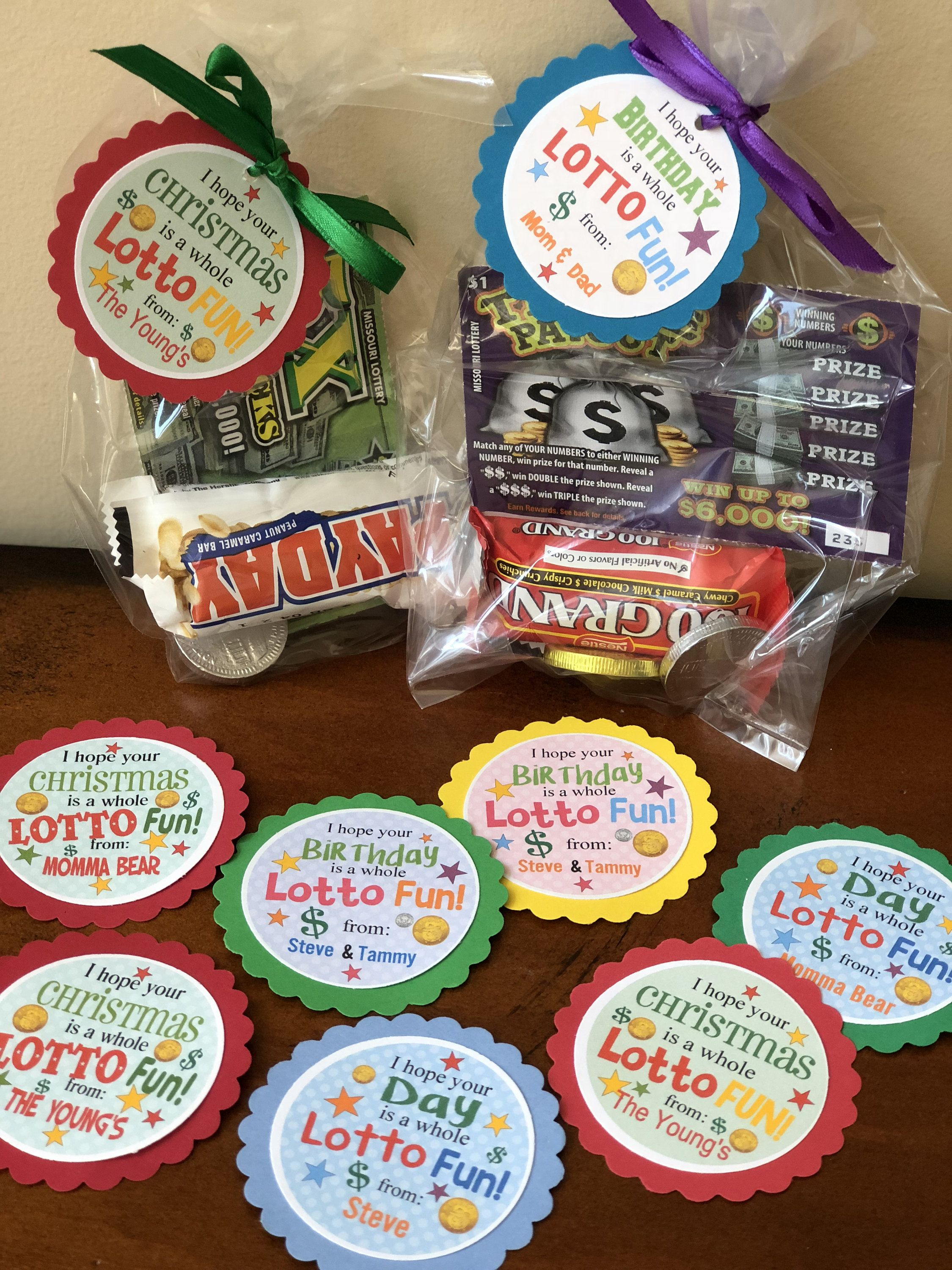 I hope your special day is a whole LOTTO FUN! – set of 12 gift tags to give with LOTTO tickets for unique gift ideas! Xmas -birthday & more