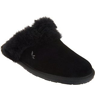 15325eeb8a6 Koolaburra by UGG Suede Faux Fur Slippers- Milo   Products   Uggs ...