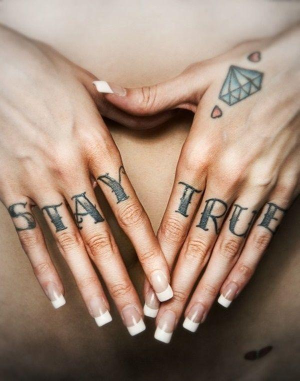 6ba855e96 50 Massive and Cute Knuckle Tattoo Designs | Rockabilly tattoos ...