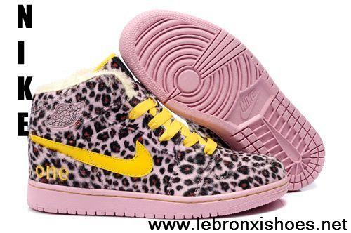 2013 Air Jordan 1 (I) Fluff Leopard Yellow