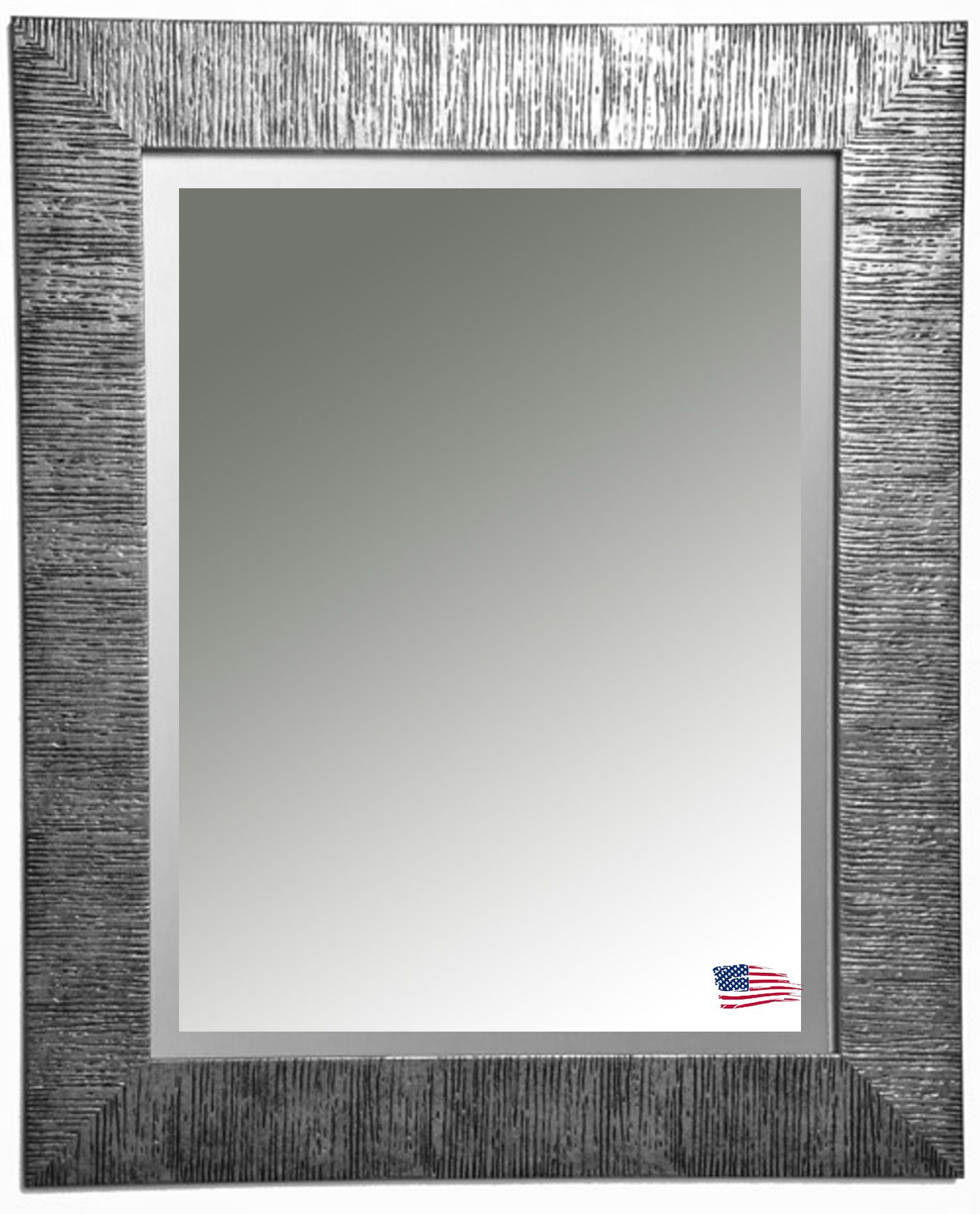 New style by Rayne Mirrors  Safari inspired silver textured wall mirror   Perfect accent piece. New style by Rayne Mirrors  Safari inspired silver textured wall