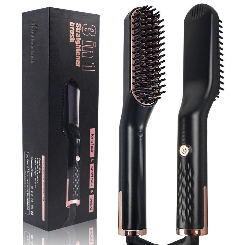 3 in 1 multifunctional hair straightener hair comb brush