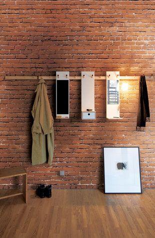 Modular hardware Backsteinwand - brick walls with loft