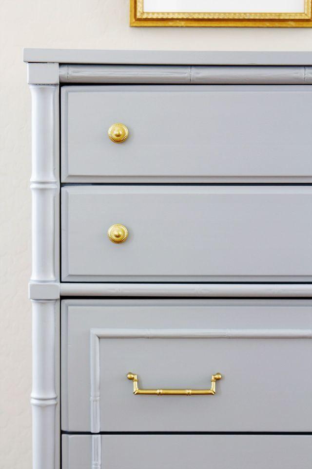 .grey & gold Schlafzimmermöbel streichen, Graue kommode