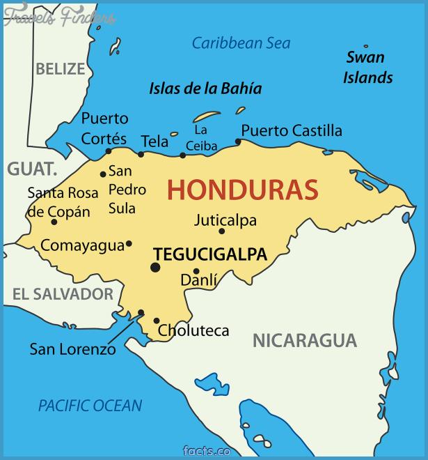 tegucigalpa on world map Honduras Map Map Honduras Political Map