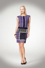 New Arrival! Geo Ethnic Ponte Dress