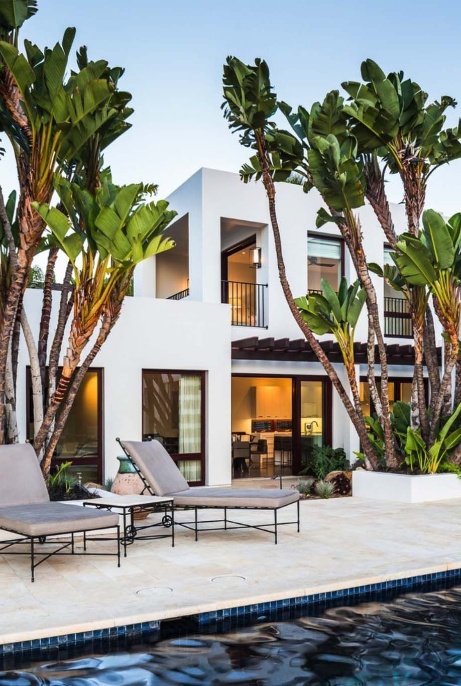 Beachfront Luxury Modern Home Exterior At Night: Family Compound Designed For Entertaining On The California Coast