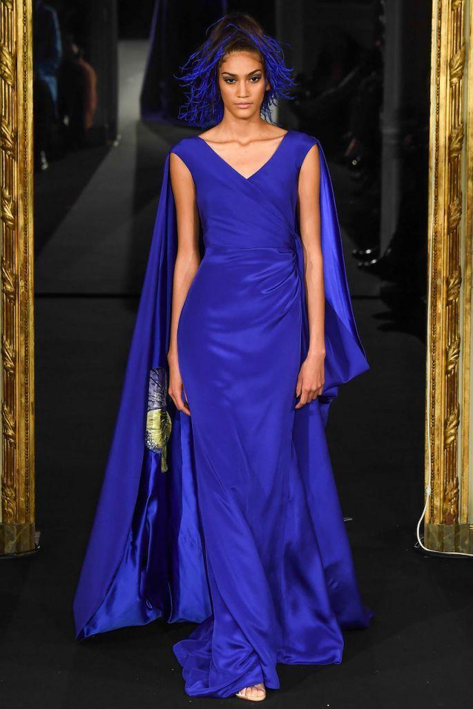 Vestidos de fiesta en color azul klein y marino - Alexis Mabille ...