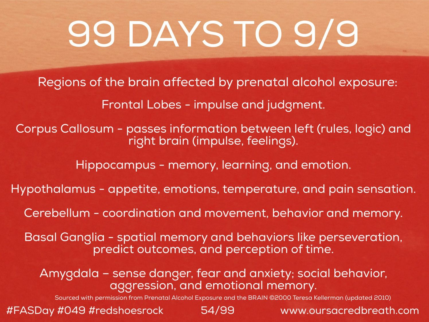 Day 54 Of 99 Days To Fasday Fasd And The Brain Fetal Alcohol Spectrum Disorder Fetal Alcohol Syndrome Fetal Alcohol