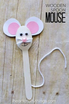 Wooden Spoon Mouse Craft for Kids #mousecrafts