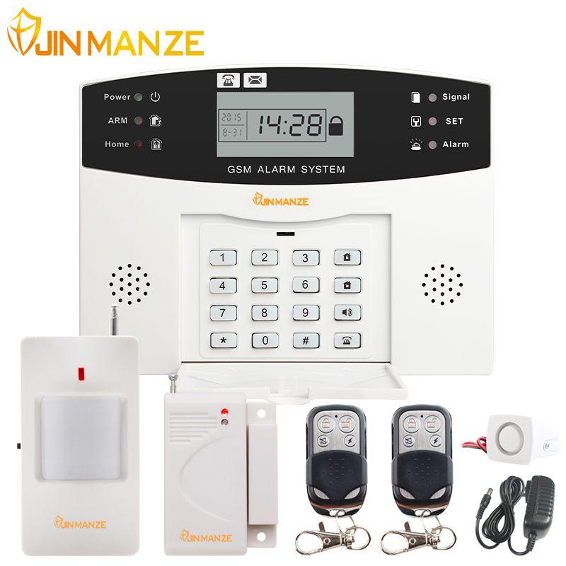 433MHz Wireless GSM SMS Home Burglar Security Alarm System Detector Sensor Kit