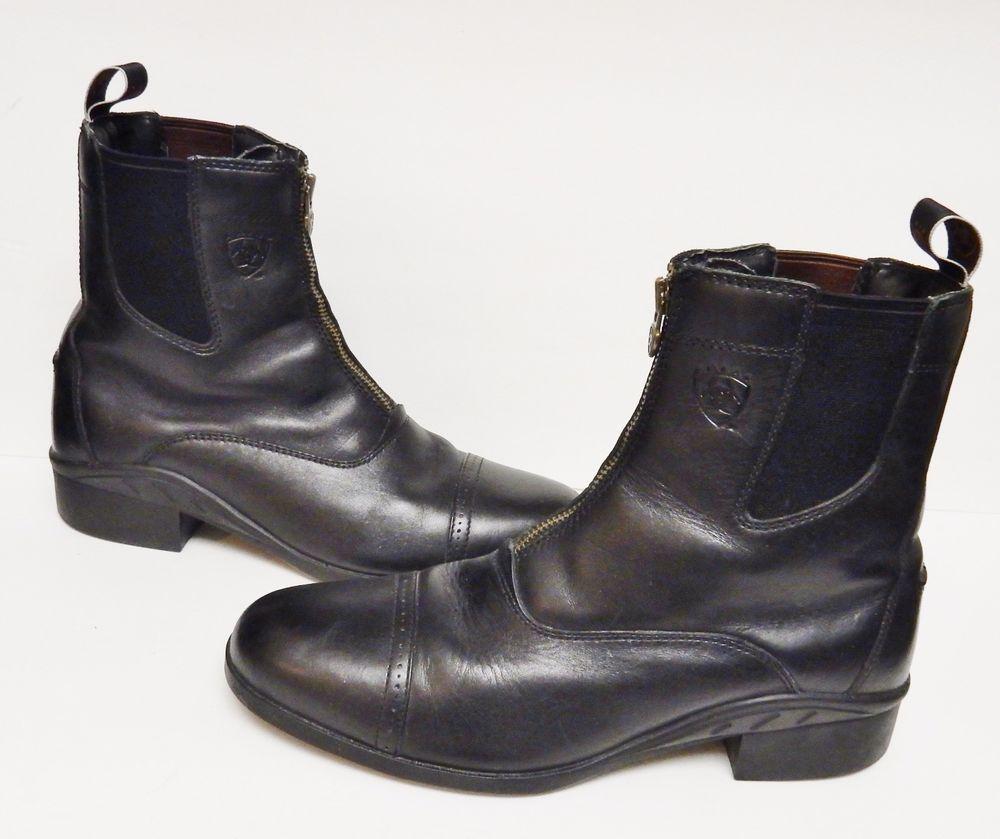 Details about Ariat 4LR Men's Riding Boots Leather Ankle Roper ...