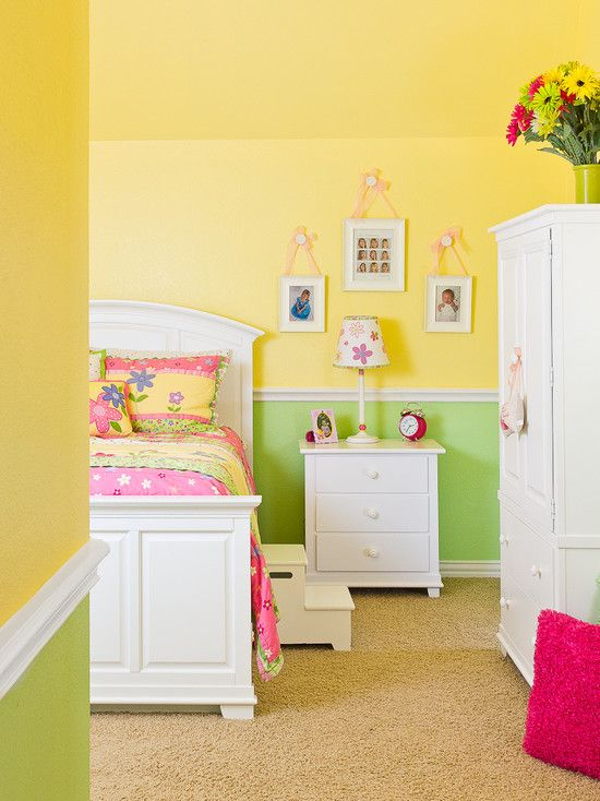 Like this yellow.. Contemporary Little Girl Bedroom Painting Ideas ...
