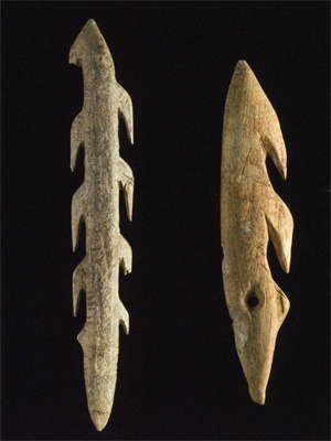 Bone Harpoons Cave Paintings Ancient Cultural Artifact