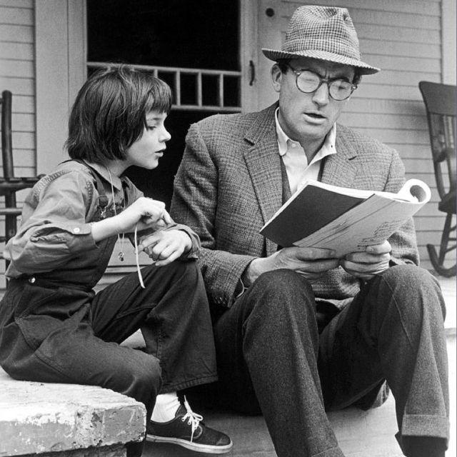 Amo a Gregory Peck. En 'Matar a un ruiseñor'... me hubiera casado con él.