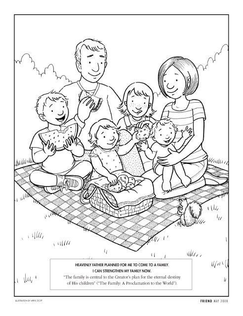 Primary 2 Lesson 6 Family Coloring Pages Lds Coloring Pages
