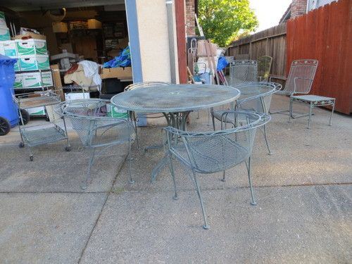 Meadowcraft Metal Patio Set Table Chairs + Extra Pcs. Bought 1967 ; Pick Up  Napa
