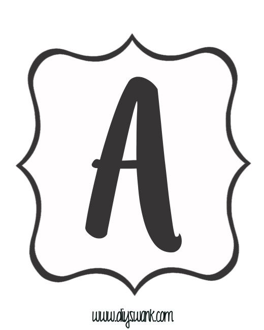 graphic about Printable Letters known as Absolutely free Printable Black and White Banner Letters Cricut